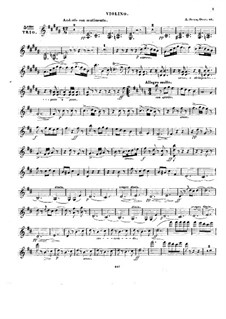 Klaviertrio Nr.5 in h-Moll, Op.46: Violinstimme by Alexander Fesca