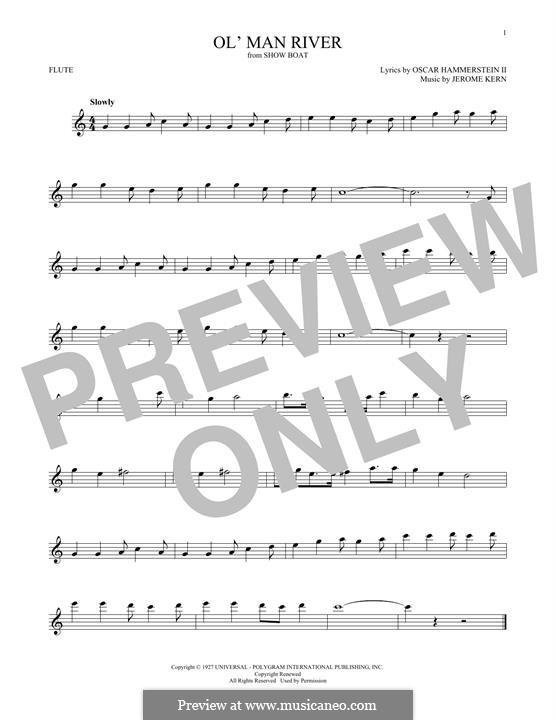 Ol' Man River (from Show Boat): Für Flöte by Jerome Kern