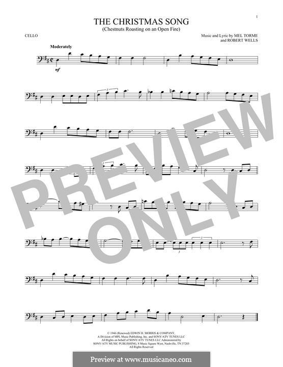 The Christmas Song (Chestnuts Roasting on an Open Fire): Für Cello by Mel Tormé, Robert Wells