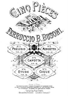 Fünf Stücke, BV 71 Op.3: Nr.1 Präludium by Ferruccio Busoni