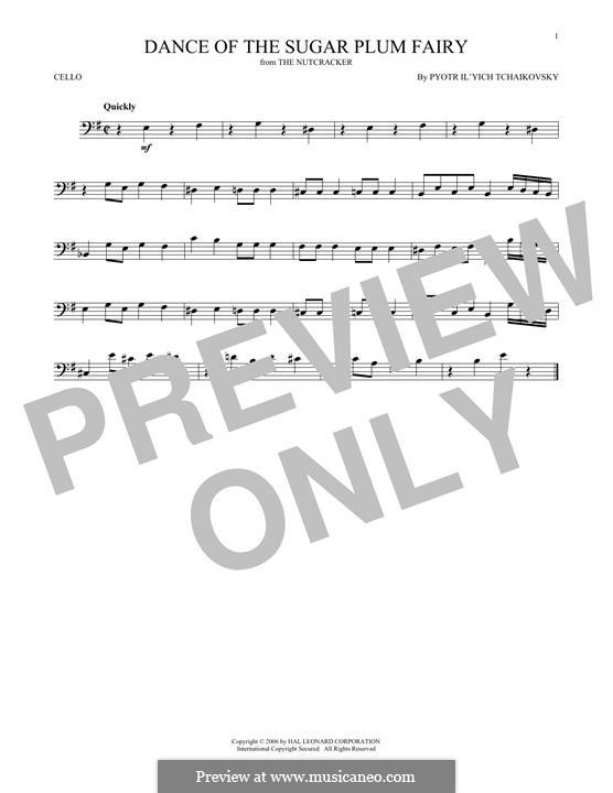 Nr.3 Tanz der Zuckerfee: Für Cello by Pjotr Tschaikowski
