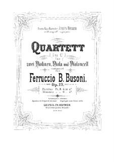 Streichquartett Nr.1 in c-Moll, BV 208 Op.19: Violastimme by Ferruccio Busoni