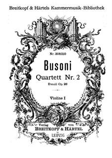 Streichquartett Nr.2 in d-Moll, BV 225 Op.26: Violinstimme I by Ferruccio Busoni