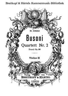Streichquartett Nr.2 in d-Moll, BV 225 Op.26: Violinstimme II by Ferruccio Busoni