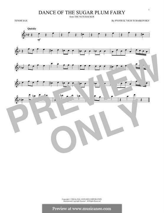 Nr.3 Tanz der Zuckerfee: Für Tenorsaxophon by Pjotr Tschaikowski