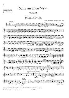 Suite im alten Style für Streichquartett, Op.23: Violinstimme II by Jan Brandts-Buys