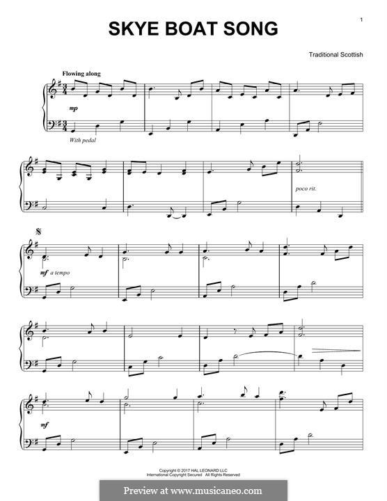 The Skye Boat Song: Für Klavier by folklore