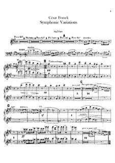 Sinfonische Variationen, M.46: Flötenstimme by César Franck