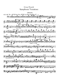 Sinfonische Variationen, M.46: Paukenstimmen by César Franck