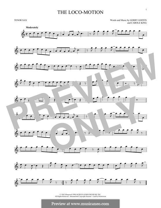The Loco-Motion: Für Tenorsaxophon by Carole King, Gerry Goffin