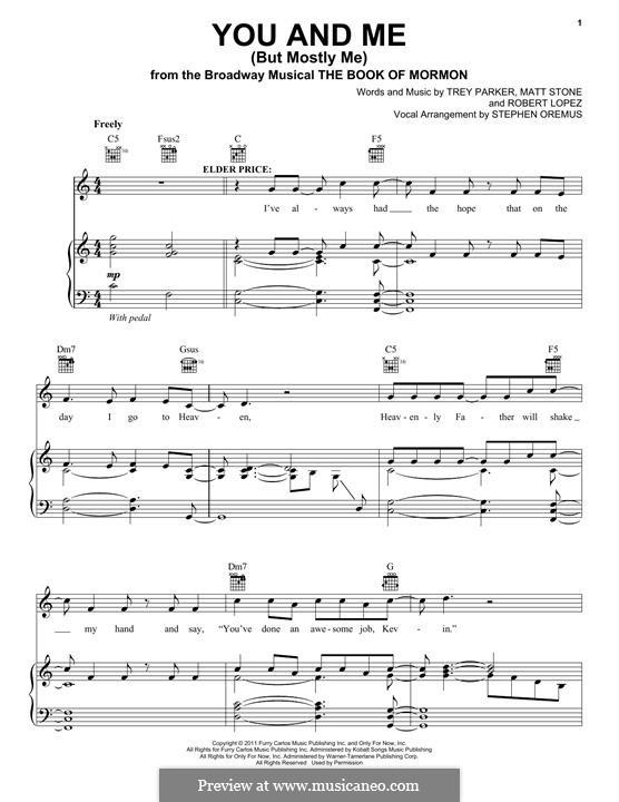 You and Me (But Mostly Me): Für Stimme und Klavier (oder Gitarre) by Robert Lopez, Trey Parker, Matt Stone