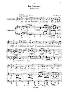 Sechs Lieder, Op.11: Nr.4 In Sommer by Robert Franz
