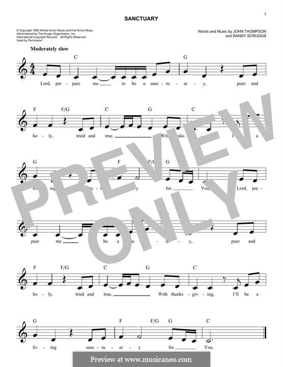 Sanctuary: Melodische Linie by Randy Scruggs, John Thompson