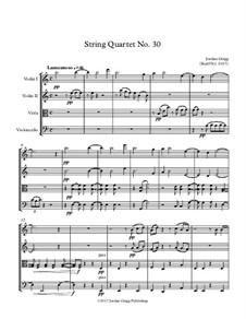 String Quartet No.30: String Quartet No.30 by Jordan Grigg