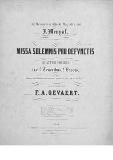 Missa solemnis pro defunctis: Vollpartitur by François-Auguste Gevaert