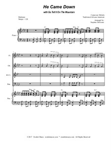 He Came Down (with Go Tell It On The Mountain): For woodwind quartet by folklore