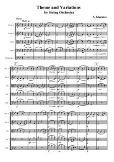 Thema und Variationen für Streichorchester: Vollpartitur by Alexander Glazunov
