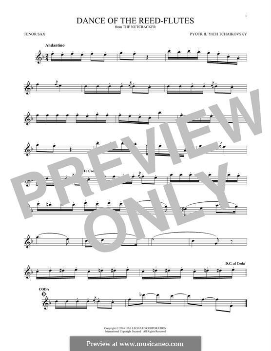 Nr.7 Tanz der Mirlitons: Für Tenorsaxophon by Pjotr Tschaikowski