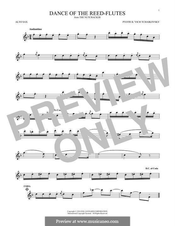 Nr.7 Tanz der Mirlitons: Für Altsaxophon by Pjotr Tschaikowski