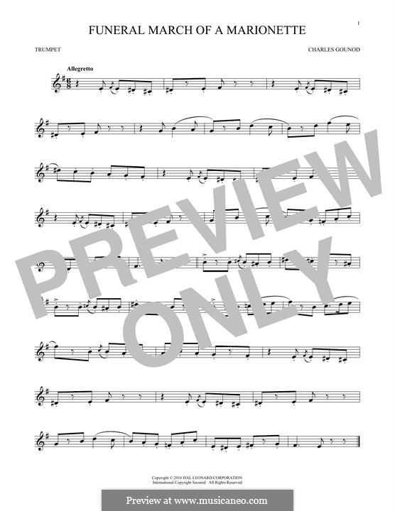 Trauermarsch einer Marionette: Für Trompete by Charles Gounod