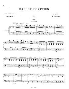Ballet égyptien, Op.12: Fünf Teile. Für zwei Klaviere, achthändig – Klavierstimmen I by Alexandre Luigini