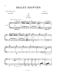 Ballet égyptien, Op.12: Fünf Teile. Für zwei Klaviere, achthändig – Klavierstimmen II by Alexandre Luigini