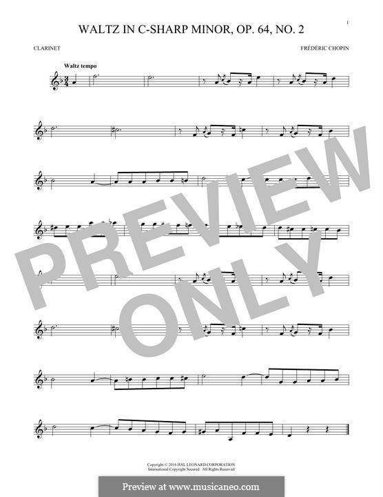 Nr.2 in cis-Moll: Für Klarinette by Frédéric Chopin