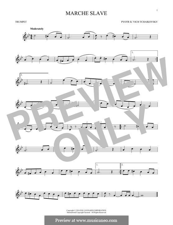 Slawischer Marsch, TH 45 Op.31: Arrangement for trumpet (Fragment) by Pjotr Tschaikowski