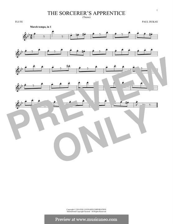 Der Zauberlehrling: Für Flöte by Paul Dukas