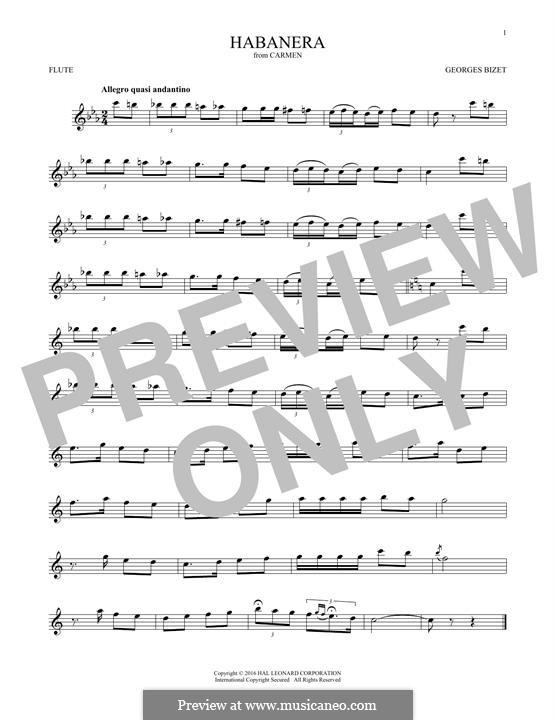 Habanera: Für Flöte by Georges Bizet