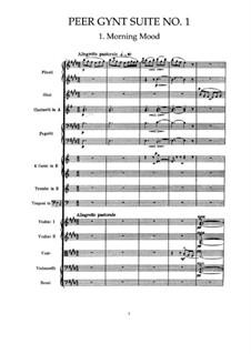 Suite Nr.1. Morgenstimmung, Op.46 No.1: Partitur by Edvard Grieg