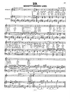 Fünf Lieder. Schottisches Lied, Op.49 No.3: Fünf Lieder. Schottisches Lied by Alexander Fesca
