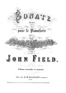 Sonaten für Klavier, H.8 Op.1: Sonate Nr.1 in Es-Dur by John Field