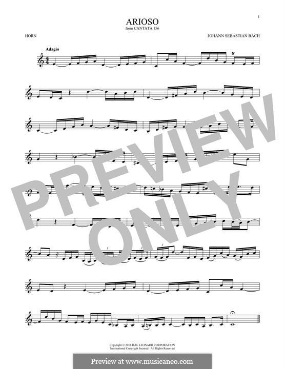 Arioso in G-Dur: For horn by Johann Sebastian Bach