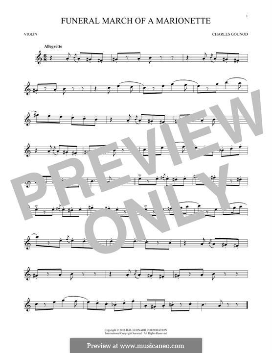 Trauermarsch einer Marionette: Für Violine by Charles Gounod