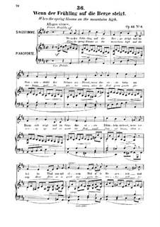 Sechs Lieder, Op.42: Nr.6 Wenn der Frühling auf die Berge steigt by Robert Franz