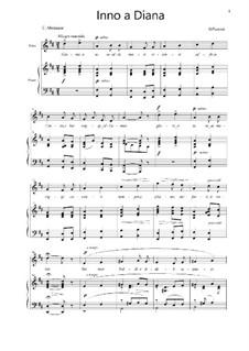 Inno a Diana: Für Stimme und Klavier by Giacomo Puccini