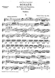 Sonate für Violine und Klavier, Op.103: Solostimme by Robert Fuchs