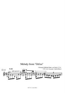 Melodie: Für Gitarre by Christoph Willibald Gluck