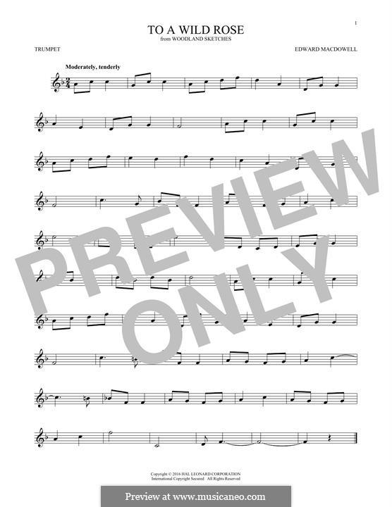 No.1 To a Wild Rose: Für Trompete by Edward MacDowell