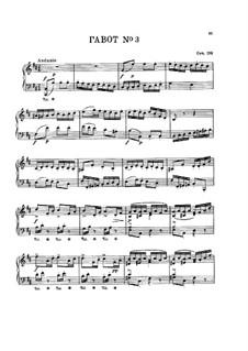 Gavotte für Klavier Nr.3 in h-Moll, Op.109: Gavotte für Klavier Nr.3 in h-Moll by Benjamin Godard