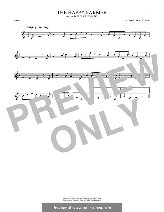 Nr.10 Fröhlicher Landmann: For horn by Robert Schumann