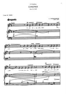 Twelve Romances, Op.21: No.3 Twilight by Sergei Rachmaninoff
