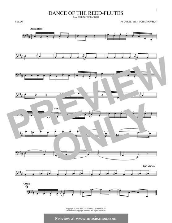 Nr.7 Tanz der Mirlitons: Für Cello by Pjotr Tschaikowski