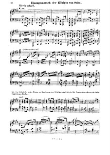Die Königin von Saba, Op.27: Akt I. Einzugsmarsch der Königin von Saba, für Klavier by Karl Goldmark