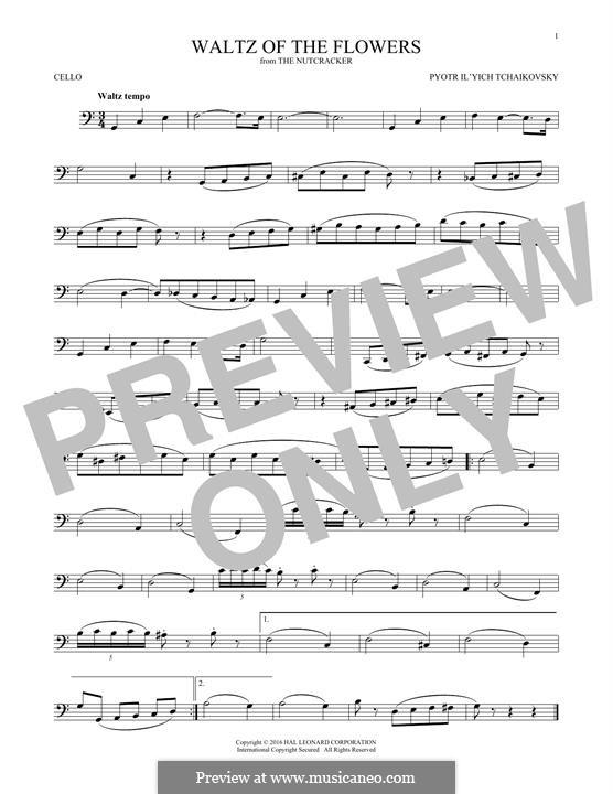 Nr.8 Blumenwalzer: Für Cello by Pjotr Tschaikowski