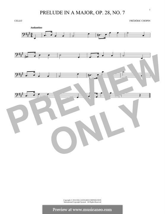 Nr.7 in A-Dur: Für Cello by Frédéric Chopin