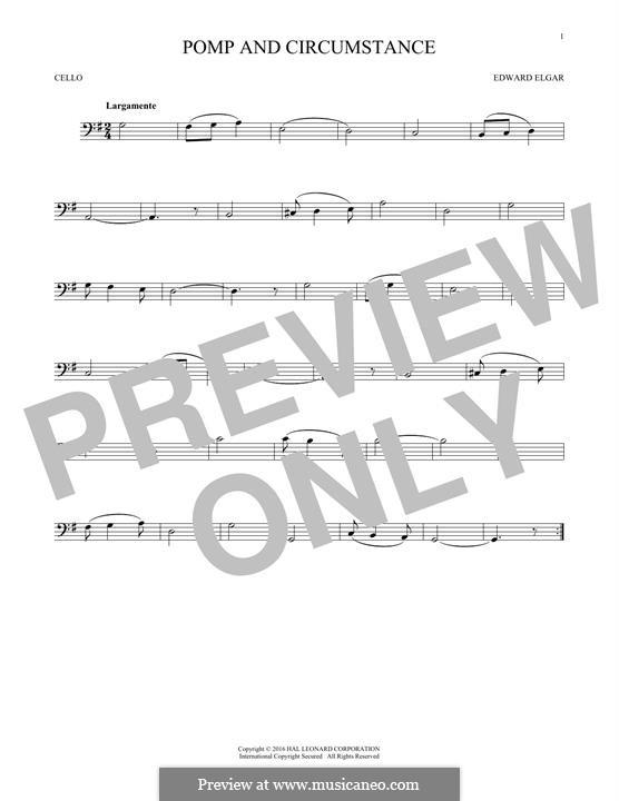 Pomp and Circumstance: Für Cello by Edward Elgar