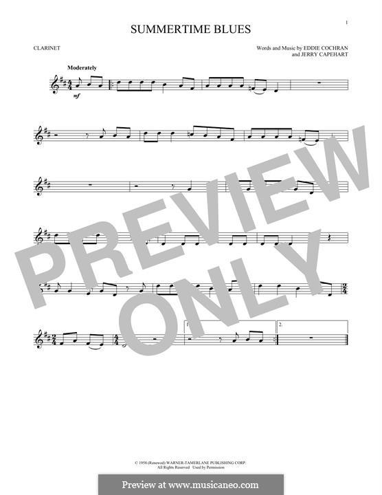 Summertime Blues: Für Klarinette by Jerry Capehart