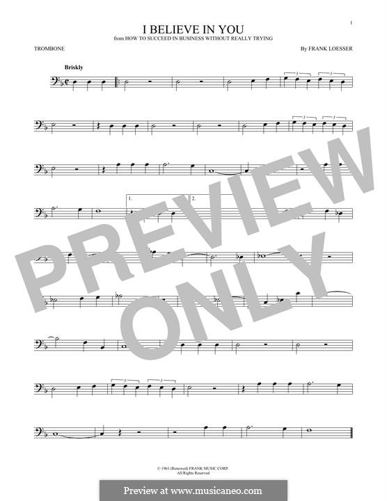I Believe in You: For trombone by Frank Loesser